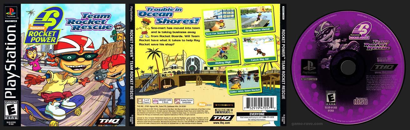 PSX PlayStation Rocket Power Team Rocket Rescue Black Label Retail Release