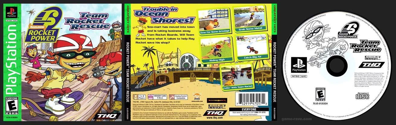 PSX PlayStation Rocket Power Team Rocket Rescue Greatest Hits Variant
