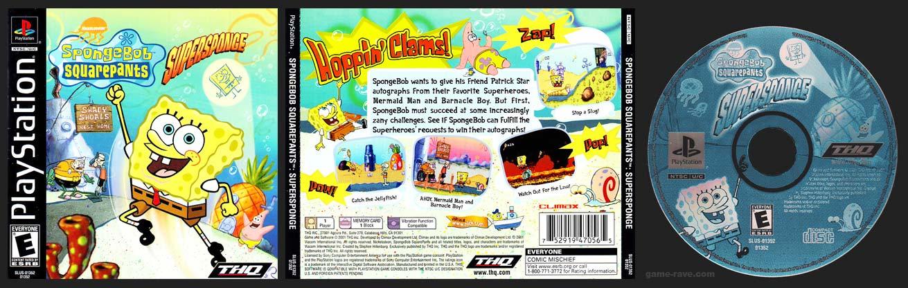 PSX PlayStation Spongebob Squarepants: Supersponge Black Label