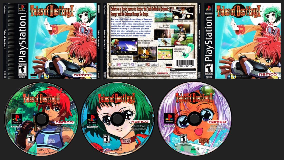 PSX PlayStation Tales of Destiny II Double Jewel Case Release