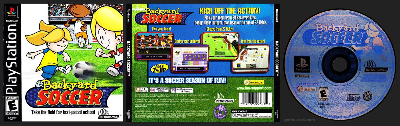 PSX PlayStation Backyard Soccer Black Label Retail Release