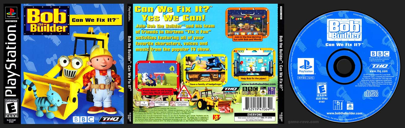 PSX PlayStation Bob The Builder Can We Fix It