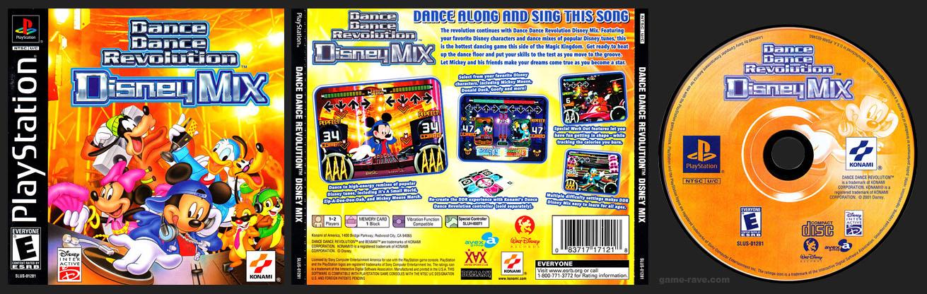 PSX PlayStation Dance Dance Revolution: Disney Mix No Ring Black Label Retail Release