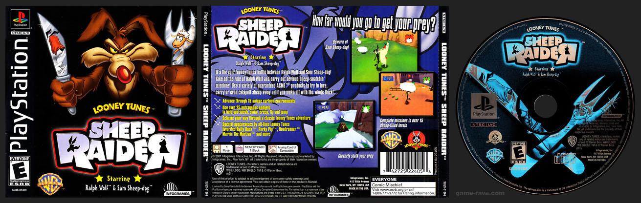 PSX PlayStation Looney Tunes Sheep Raider Black Label Release