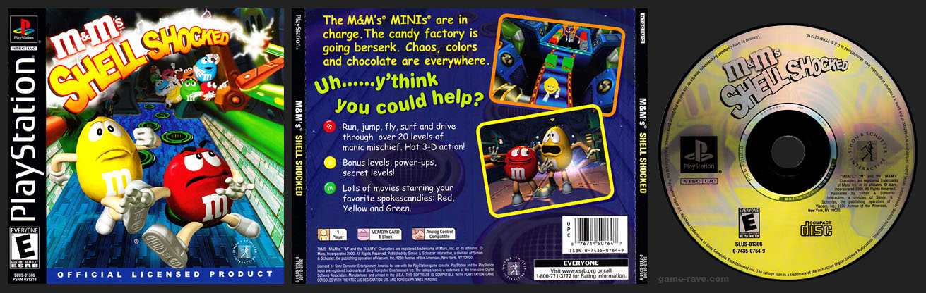 PSX PlayStation M & M's Shell Shocked Black Label Retail Release