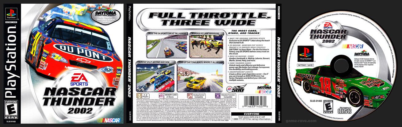 PSX PlaySTation NASCAR Thunder 2002 Black Label Retail Release