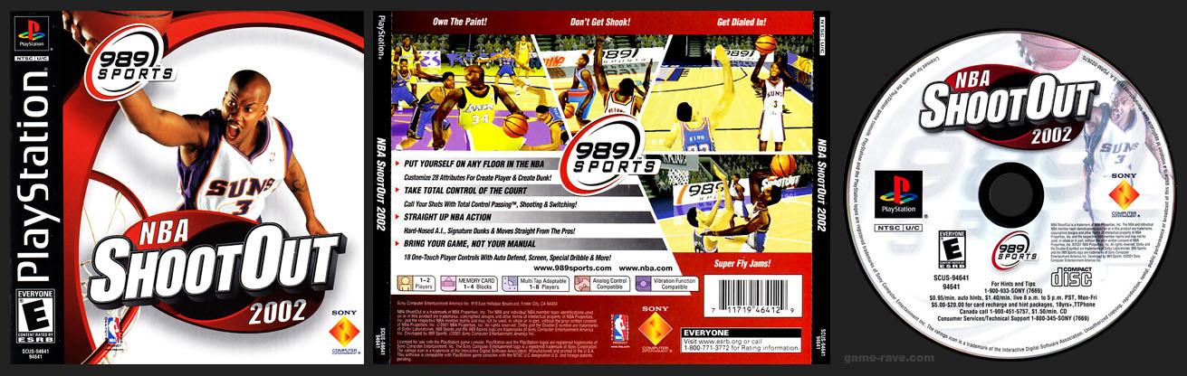 PSX PlayStation NBA Shoot Out 2002 Black Label Jewel Case
