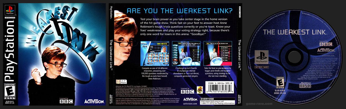 PSX PlayStation The Weakest Link 1 Ring Black Label Release