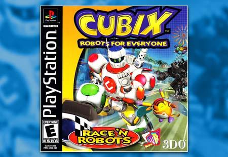 PSX PlayStation Cubix Robots For Everyone: Race 'N Robots