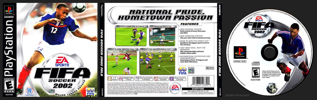 PSX PlayStation FIFA Soccer 2002 MLS Black Label Release