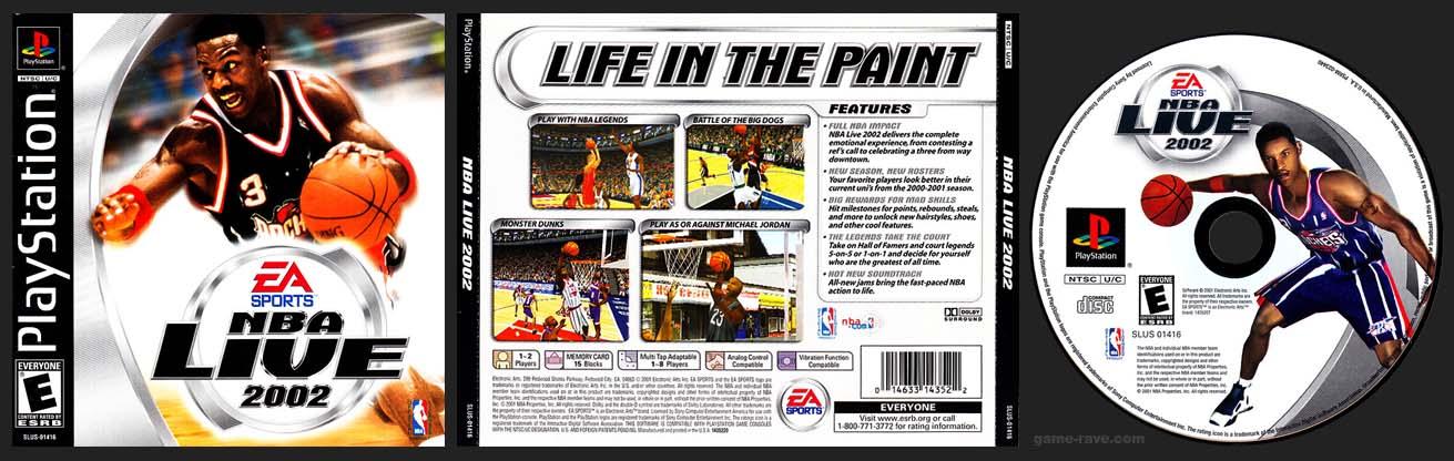 PSX PlayStation NBA Live 2002