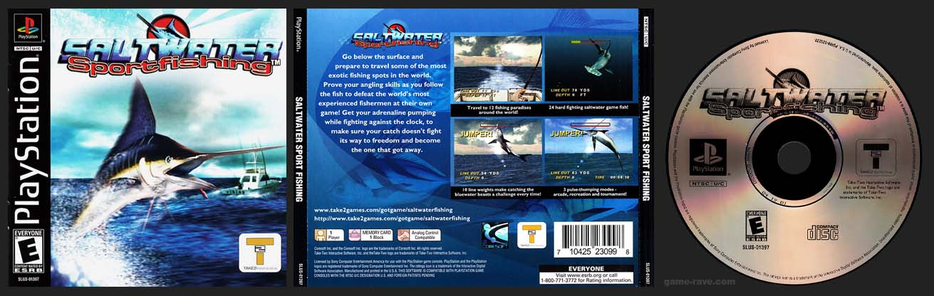 PSX PlayStation Saltwater Sport Fishing Black Label