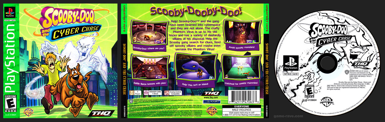 PSX PlayStation Scooby-Doo and the Cyber Chase Greatest Hits Variant