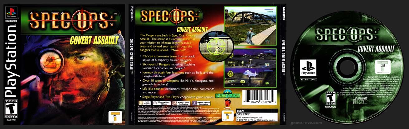 PSX PlayStation Spec Ops Covert Assault