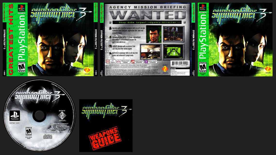 PSX PlayStation Syphon Filter 3 Greatest Hits Variant